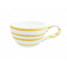 Gmundner Keramik Gelbgeflammt Mokka-/Espresso-Obertasse glatt 0,06 L / h: 4,1 cm