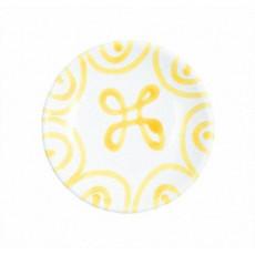 Gmundner Keramik Gelbgeflammt Mokka-/Espresso-Untertasse glatt d: 11 cm