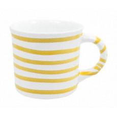 Gmundner Keramik Gelbgeflammt Kaffeehäferl glatt 0,24 L / h: 7,8 cm