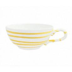 Gmundner Keramik Gelbgeflammt Tee-Obertasse glatt 0,17 L