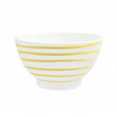 Gmundner Keramik Gelbgeflammt Müslischale groß d: 14 cm / h: 7,8 cm / 0,4 L