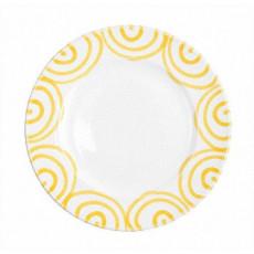 Gmundner Keramik Gelbgeflammt Dessertteller / Frühstücksteller Gourmet d: 22 cm / h: 2,2 cm