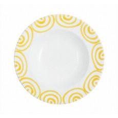 Gmundner Keramik Gelbgeflammt Suppenteller Gourmet d: 24 cm / h: 4 cm