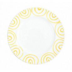 Gmundner Keramik Gelbgeflammt Speiseteller Gourmet d: 27 cm / h: 2 cm