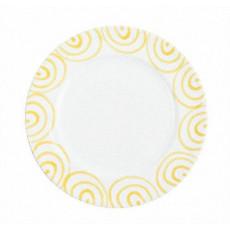 Gmundner Keramik Gelbgeflammt Speiseteller Gourmet d: 29 cm / h: 2,2 cm