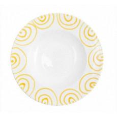Gmundner Keramik Gelbgeflammt Pastateller Gourmet d: 29 cm / h: 4,5 cm