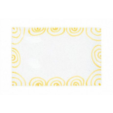 Gmundner Keramik Gelbgeflammt Platte rechteckig 30x20x2,5 cm