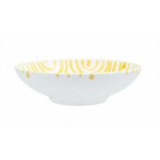 Gmundner Keramik Gelbgeflammt Schale groß d: 17 cm / h: 4,8 cm / 0,2 L