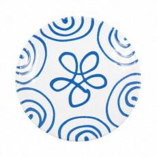 Gmundner Keramik Blaugeflammt Kaffee-/Tee-Untertasse Cup d: 15 cm / h: 2,5 cm