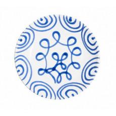 Gmundner Keramik Blaugeflammt Suppenteller Cup d: 20 cm / h: 4,4 cm