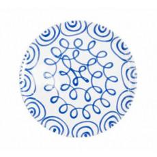 Gmundner Keramik Blaugeflammt Speiseteller Cup d: 25 cm / h: 2,8 cm