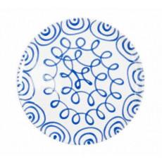 Gmundner Keramik Blaugeflammt Platzteller Cup d: 32 cm / h: 2,2 cm