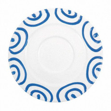 Gmundner Keramik Blaugeflammt Kaffee-Untertasse Gourmet d: 16 cm