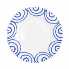 Gmundner Keramik Blaugeflammt Dessertteller / Frühstücksteller Gourmet d: 22 cm / h: 2,2 cm