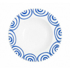 Gmundner Keramik Blaugeflammt Suppenteller Gourmet d: 24 cm / h: 4 cm