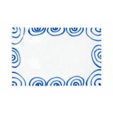 Gmundner Keramik Blaugeflammt Platte rechteckig 30x20x2,5 cm