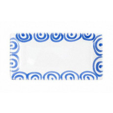 Gmundner Keramik Blaugeflammt Snackschale 22x11x2,7 cm