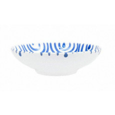 Gmundner Keramik Blaugeflammt Schale groß d: 17 cm / h: 4,8 cm / 0,2 L