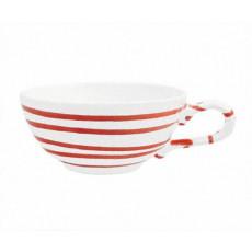 Gmundner Keramik Rotgeflammt Tee-Obertasse glatt 0,17 L