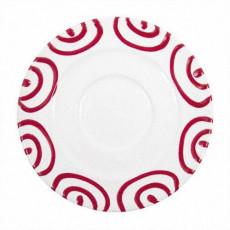 Gmundner Keramik Rotgeflammt Kaffee-Untertasse Gourmet d: 16 cm