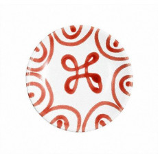 Gmundner Keramik Rotgeflammt Mokka-/Espresso-Untertasse glatt d: 11 cm