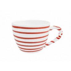 Gmundner Keramik Rotgeflammt Tee-Obertasse Maxima 0,4 L