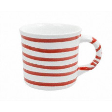 Gmundner Keramik Rotgeflammt Kaffeehäferl glatt 0,24 L / h: 7,8 cm