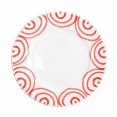 Gmundner Keramik Rotgeflammt Dessertteller / Frühstücksteller Gourmet d: 22 cm / h: 2,2 cm