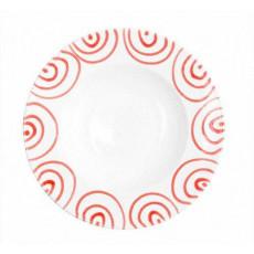 Gmundner Keramik Rotgeflammt Pastateller Gourmet d: 29 cm / h: 4,5 cm