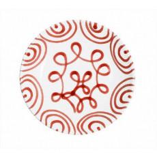 Gmundner Keramik Rotgeflammt Suppenteller Cup d: 20 cm / h: 4,4 cm