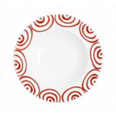 Gmundner Keramik Rotgeflammt Suppenteller Gourmet d: 24 cm / h: 4 cm