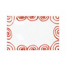Gmundner Keramik Rotgeflammt Platte rechteckig 30x20x2,5 cm