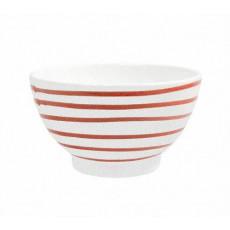 Gmundner Keramik Rotgeflammt Müslischale groß d: 14 cm / h: 7,8 cm / 0,4 L