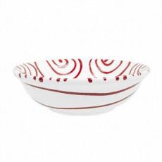 Gmundner Keramik Rotgeflammt Müslischale klein d: 14 cm / h: 4,5 cm / 0,27 L