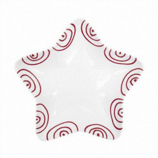Gmundner Keramik Rotgeflammt Sternschale Stella d: 14 cm / h: 3,9 cm