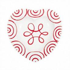 Gmundner Keramik Rotgeflammt Herzschale d: 10 cm / h: 2,4 cm