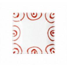Gmundner Keramik Rotgeflammt Snackschale 11x11x2,8 cm