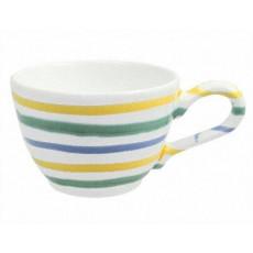 Gmundner Keramik Buntgeflammt Kaffee Obertasse glatt 0,19 l