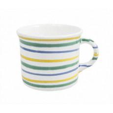 Gmundner Keramik Buntgeflammt Becher mit Henkel glatt 0,24 l