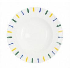 Gmundner Keramik Buntgeflammt Gourmetteller rund 29 cm