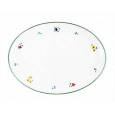 Gmundner Keramik Streublumen Platte oval 28 cm