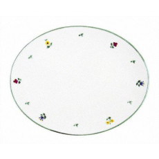 Gmundner Keramik Streublumen Platte oval 33 cm