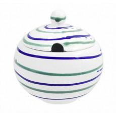 Gmundner Keramik Traunsee Zuckerdose glatt mit Ausschnitt 10 cm
