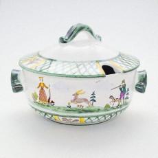 Gmundner Keramik Jagd Suppenterrine glatt 2 l