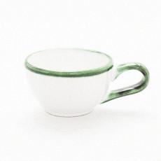 Gmundner Keramik Grüner Rand Mokka Obertasse glatt 0,06 l