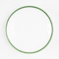 Gmundner Keramik Grüner Rand Mokka Untertasse glatt 11 cm
