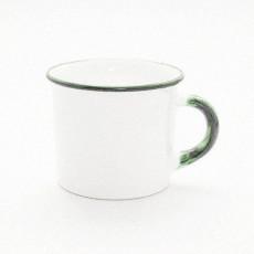 Gmundner Keramik Grüner Rand Kaffee Häferl glatt 0,24 l