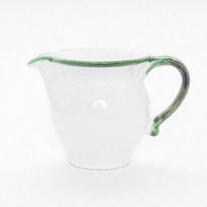 Gmundner Keramik Grüner Rand Milchgießer glatt 0,3 l - Höhe ca. 9,5 cm