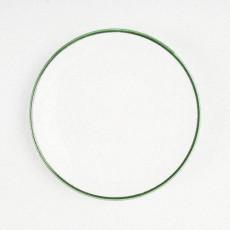 Gmundner Keramik Grüner Rand Frühstücksteller Cup 20 cm