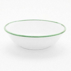 Gmundner Keramik Grüner Rand Kompottschale 14 cm